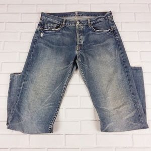 "7 For All Mankind Size 36X35 Jeans ""A"" Pocket USA"